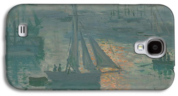 Morning Light Paintings Galaxy S4 Cases - Sunrise  Marine Galaxy S4 Case by Claude Monet