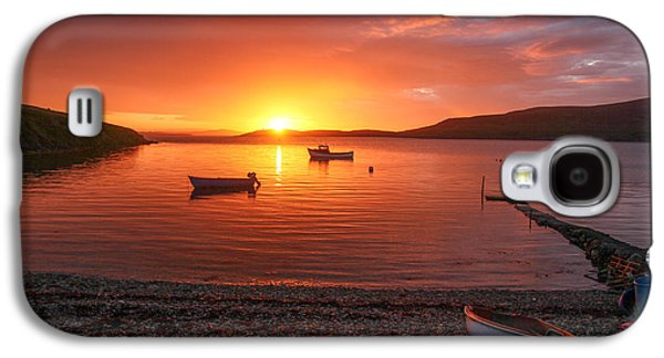 Transportation Photographs Galaxy S4 Cases - Sunset At Trondra Shetland Galaxy S4 Case by Anne Macdonald