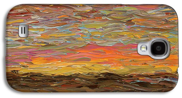 Evening Paintings Galaxy S4 Cases - Sunset Galaxy S4 Case by James W Johnson