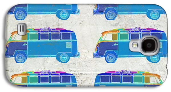 Colorful Abstract Galaxy S4 Cases - Surfer Vans  Galaxy S4 Case by Edward Fielding