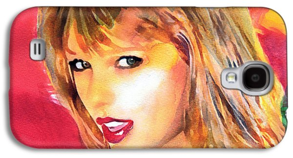 Taylor Swift Paintings Galaxy S4 Cases - Taylor Swift Galaxy S4 Case by Vya Artist