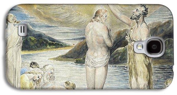 The Baptism Of Christ Galaxy S4 Case by William Blake
