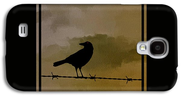 Crows Galaxy S4 Cases - The Black Crow Knows Galaxy S4 Case by Edward Fielding