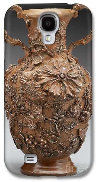 Relief Sculpture Reliefs Galaxy S4 Cases - The Cedar Ridge - bronze vase Galaxy S4 Case by Dawn Senior-Trask