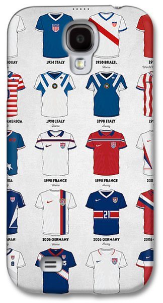 The Evolution Of The Us World Cup Soccer Jersey Galaxy S4 Case by Taylan Soyturk
