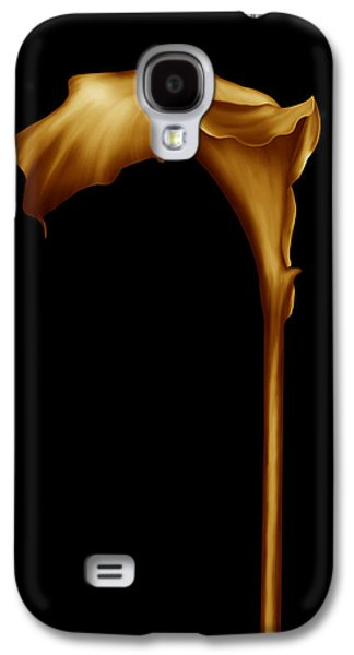 Calla Lilly Galaxy S4 Cases - The Golden Calla Lilly Galaxy S4 Case by Georgiana Romanovna