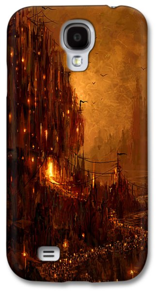 Science Fiction Mixed Media Galaxy S4 Cases - The Hive Galaxy S4 Case by Philip Straub