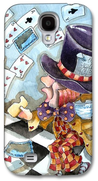 Mad Hatter Paintings Galaxy S4 Cases - The Mad Hatter Galaxy S4 Case by Lucia Stewart