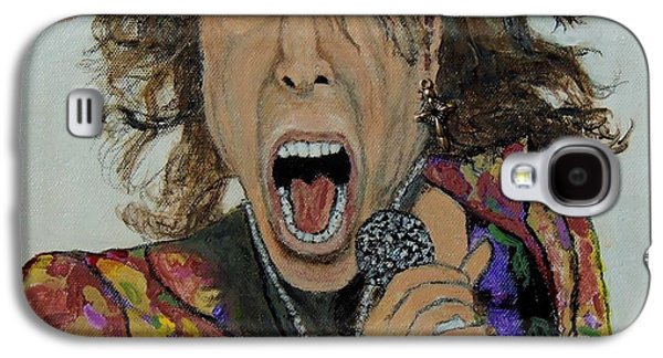 Steven Tyler Paintings Galaxy S4 Cases - The madman of rock.Steven Tyler. Galaxy S4 Case by Ken Zabel