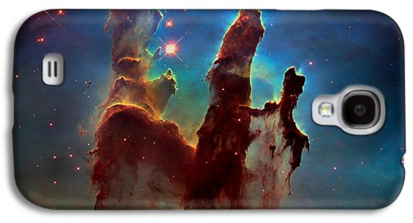 The Void Galaxy S4 Cases - The Pillars Of Creation Galaxy S4 Case by Nasa
