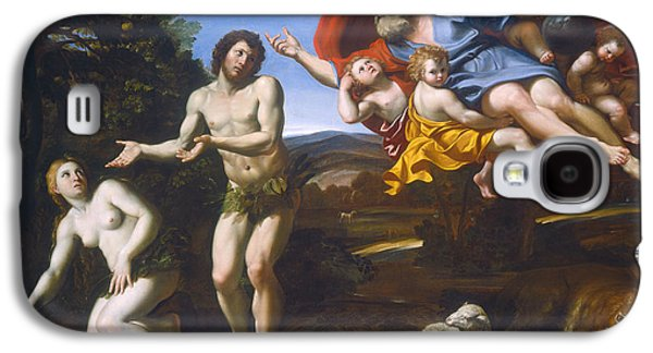 The Tiger Paintings Galaxy S4 Cases - The Rebuke Of Adam And Eve Galaxy S4 Case by Domenichino