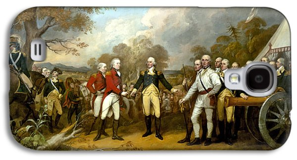 Day Paintings Galaxy S4 Cases - The Surrender of General Burgoyne Galaxy S4 Case by War Is Hell Store