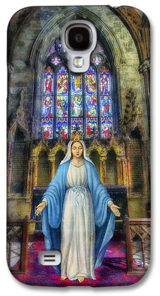Mother Mary Digital Art Galaxy S4 Cases - The Virgin Mary Galaxy S4 Case by Ian Mitchell