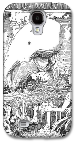 Baba Paintings Galaxy S4 Cases - The Whale Galaxy S4 Case by Reynold Jay