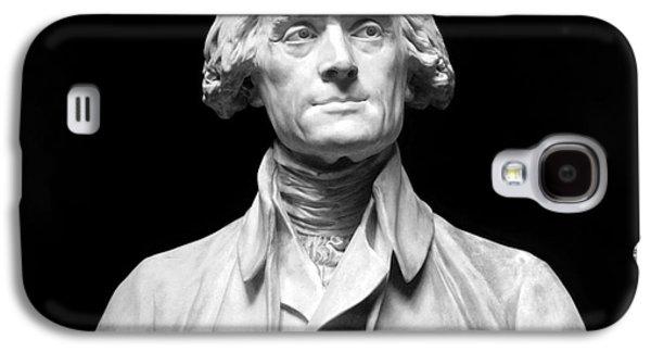 Statue Portrait Galaxy S4 Cases - Thomas Jefferson (1743-1826) Galaxy S4 Case by Granger