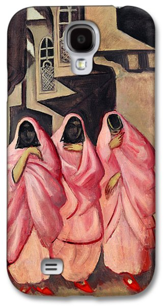 Baghdad Paintings Galaxy S4 Cases - Three Women on the Street of Baghdad Galaxy S4 Case by Jazeps Grosvalds