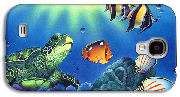 Turtle Dreams Galaxy S4 Case by Angie Hamlin