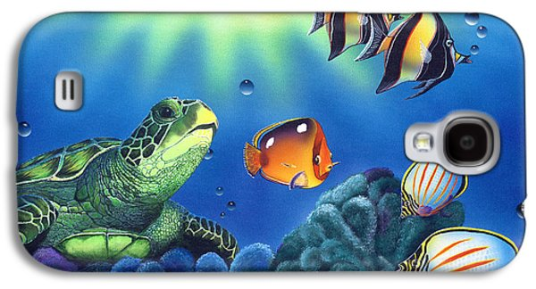 Idol Galaxy S4 Cases - Turtle Dreams Galaxy S4 Case by Angie Hamlin