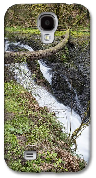 Twin Falls In Silver Falls State Park Galaxy S4 Case by John McGraw