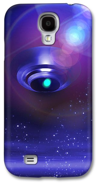 Terrestrial Galaxy S4 Cases - Ufo, Artwork Galaxy S4 Case by Victor Habbick Visions