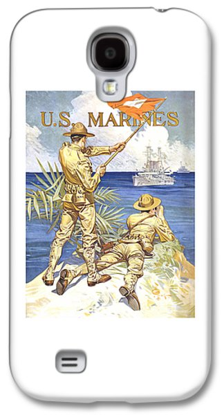 Historic Ship Galaxy S4 Cases - US Marines - WW1 Galaxy S4 Case by War Is Hell Store