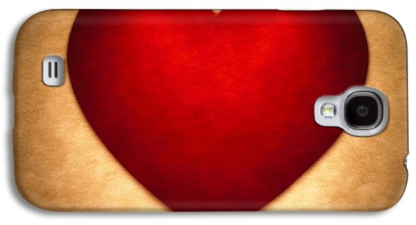 Valentine Heart Galaxy S4 Case by Tony Cordoza