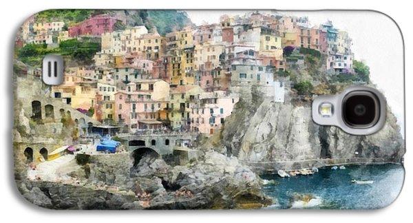 Manarola Italy In The Cinque Terra Galaxy S4 Case by Edward Fielding