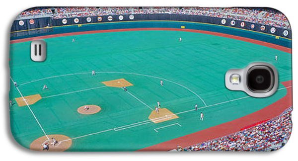 Sports Photographs Galaxy S4 Cases - Veteran Stadium, Phyllis V. Astros Galaxy S4 Case by Panoramic Images