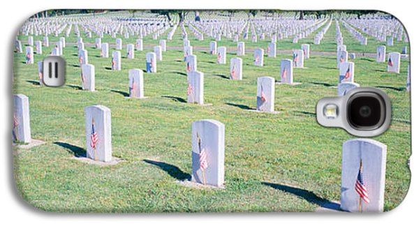 Headstones Galaxy S4 Cases - Veterans National Cemetery On Veterans Galaxy S4 Case by Panoramic Images