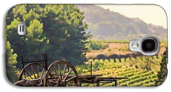vineyard in France Galaxy S4 Case by Elly De vries