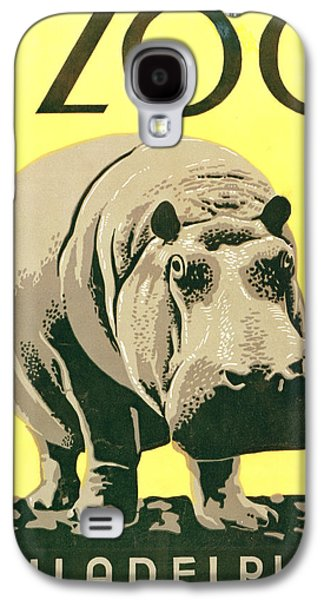 Hippopotamus Digital Galaxy S4 Cases - Visit The Zoo Galaxy S4 Case by Unknown
