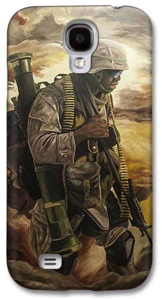 Iraq Prints Galaxy S4 Cases - Warrior Galaxy S4 Case by Annette Redman