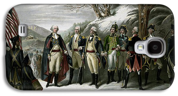 Revolutionary War Mixed Media Galaxy S4 Cases - Washington and His Generals Galaxy S4 Case by War Is Hell Store