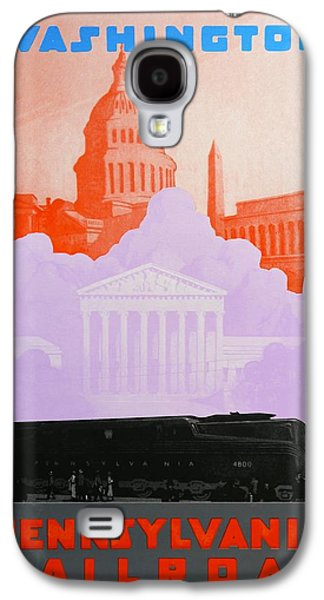 Landmarks Drawings Galaxy S4 Cases - Washington DC Galaxy S4 Case by David Studwell