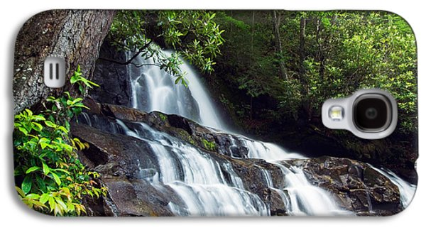 Contemplative Photographs Galaxy S4 Cases - Water Cascading Over Rocky Cliffs Galaxy S4 Case by Panoramic Images
