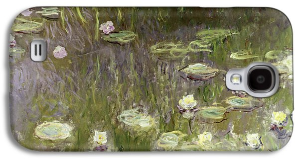 Waterlilies At Midday Galaxy S4 Case by Claude Monet