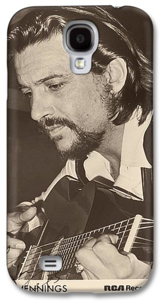 Old Western Photos Galaxy S4 Cases - Waylon Jennings 1971 Signed Galaxy S4 Case by Rca