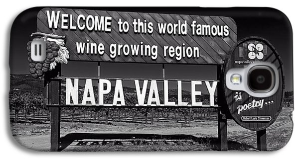 Napa Valley And Vineyards Galaxy S4 Cases - Welcome To Napa Valley Galaxy S4 Case by Mountain Dreams