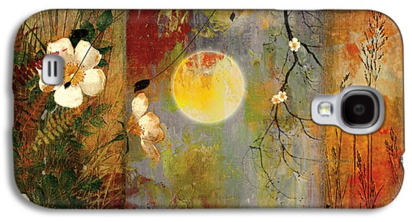 Dreamscape Galaxy S4 Cases - Whisper Forest Moon II Galaxy S4 Case by Mindy Sommers