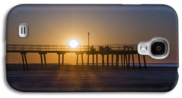 Crest Digital Art Galaxy S4 Cases - Wildwood Crest Pier - At Sunrise Galaxy S4 Case by Bill Cannon