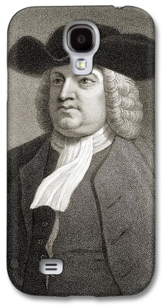 Quaker Drawings Galaxy S4 Cases - William Penn 1644-1718. English Quaker Galaxy S4 Case by Ken Welsh
