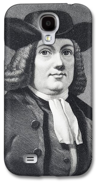 Quaker Drawings Galaxy S4 Cases - William Penn 1644 To 1718 English Galaxy S4 Case by Ken Welsh