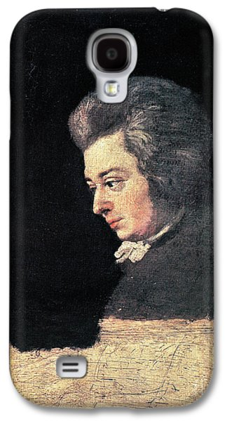 Pianist Photographs Galaxy S4 Cases - Wolfgang Amadeus Mozart Galaxy S4 Case by Granger