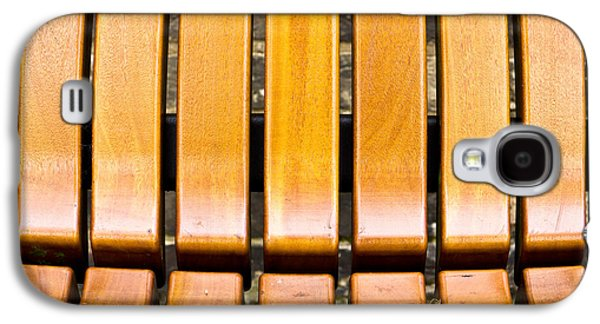 Nature Abstract Galaxy S4 Cases - Wooden bench Galaxy S4 Case by Tom Gowanlock
