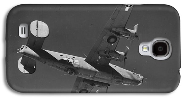 Jet Star Galaxy S4 Cases - WWII US Aircraft In Flight Galaxy S4 Case by American School
