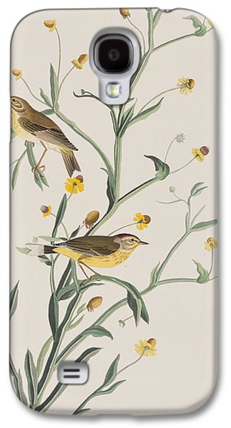 Yellow Red-poll Warbler Galaxy S4 Case by John James Audubon