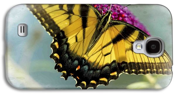 Business Galaxy S4 Cases - Eastern yellow tiger swallowtail on butterfly bush Galaxy S4 Case by Geraldine Scull