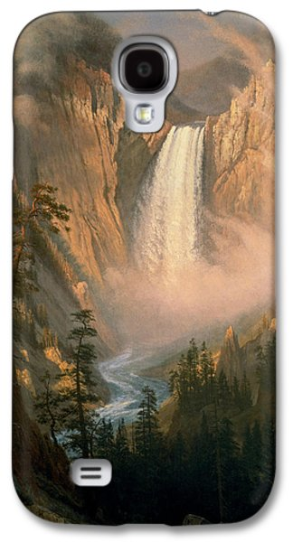 Beach Landscape Pastels Galaxy S4 Cases - Yellowstone  Falls Galaxy S4 Case by Celestial Images