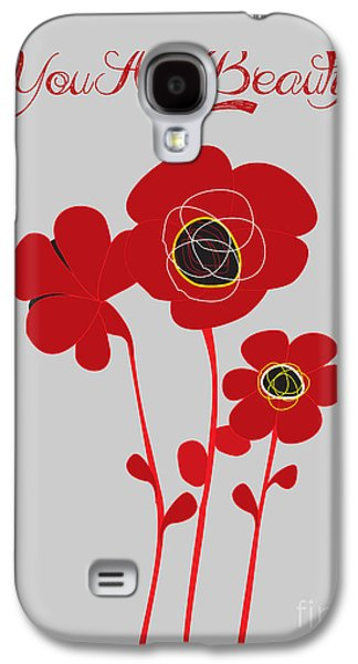 Consumerproduct Galaxy S4 Cases - You are beautiful - Poppies Galaxy S4 Case by Adam Asar