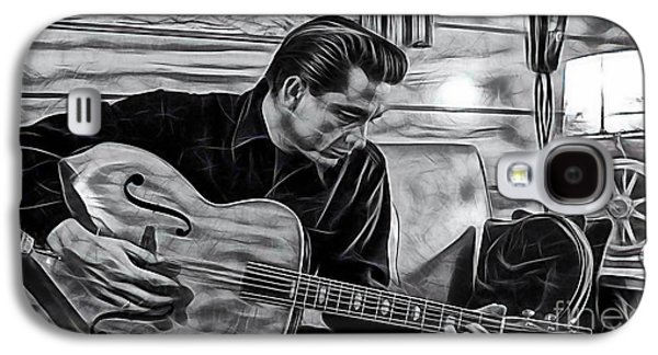 Country Galaxy S4 Cases - Johnny Cash Collection Galaxy S4 Case by Marvin Blaine